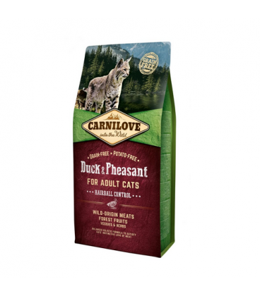 Carnilove-Adult Duck & Pheasant Hairball Control (1)