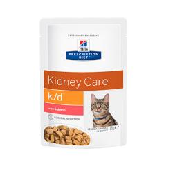 Hills Prescription Diet-PD Feline k/d con Salmone. Bustina 85gr. (1)