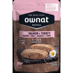Ownat Wetline comida húmeda para gatos kitten salmon & turkey