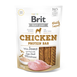 Brit jerky snack with insect protein bar pollo premios para perro